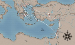 This is another map showing the journey.