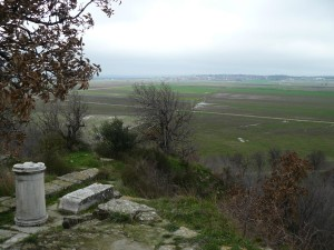 This is a view of modern Troas (western Turkey) from the ruins of ancient Troas.