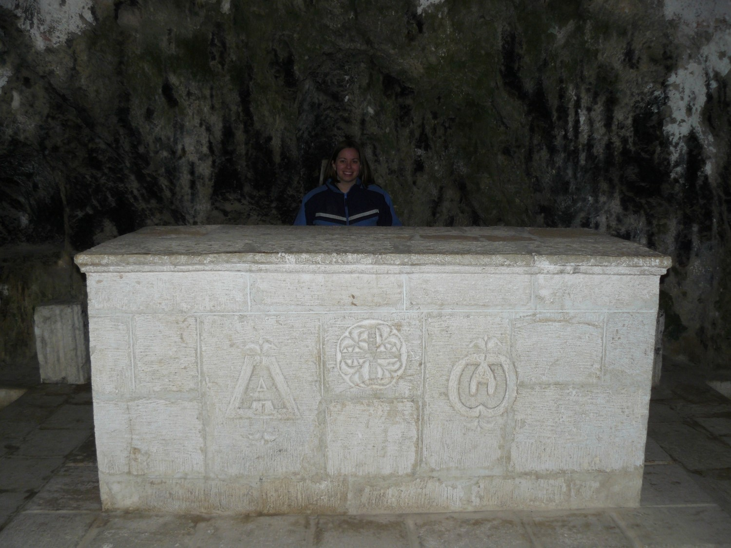 Lord's Supper table from the cave church in Syrian Antioch.