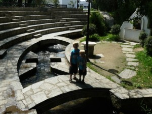 A modern renovation of the river outside Philippi where Lydia and her household were baptized (Acts 16).