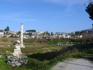 This is what's left today of the Great Temple of Artemis.